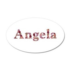 Angela Pink Flowers Wall Decal