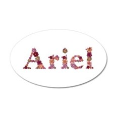 Ariel Pink Flowers Wall Decal