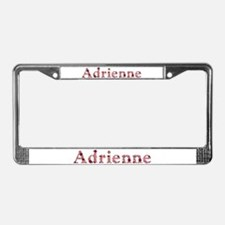 Adrienne Pink Flowers License Plate Frame