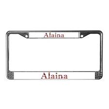 Alaina Pink Flowers License Plate Frame