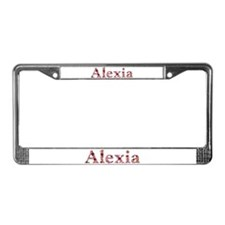 Alexia Pink Flowers License Plate Frame