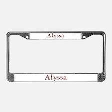 Alyssa Pink Flowers License Plate Frame