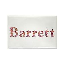 Barrett Pink Flowers Rectangle Magnet