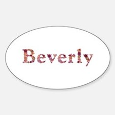 Beverly Pink Flowers Oval Decal