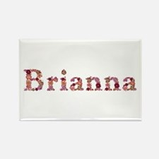 Brianna Pink Flowers Rectangle Magnet