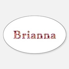 Brianna Pink Flowers Oval Decal