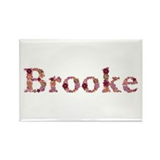 Brooke Pink Flowers Rectangle Magnet