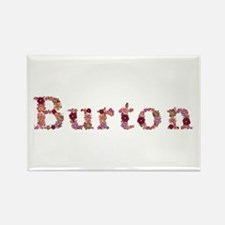 Burton Pink Flowers Rectangle Magnet