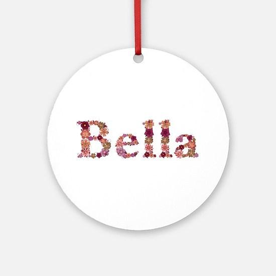 Bella Pink Flowers Round Ornament