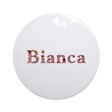 Bianca Pink Flowers Round Ornament