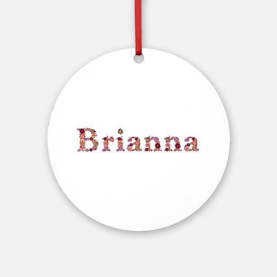 Brianna Pink Flowers Round Ornament