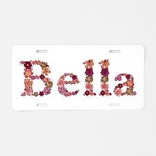 Bella Pink Flowers Aluminum License Plate