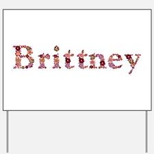 Brittney Pink Flowers Yard Sign