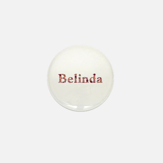 Belinda Pink Flowers Mini Button