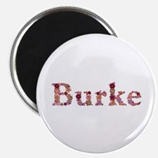 Burke Pink Flowers Round Magnet 10 Pack
