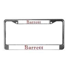 Barrett Pink Flowers License Plate Frame