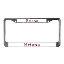 Briana Pink Flowers License Plate Frame
