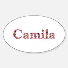 Camila Pink Flowers Oval Decal