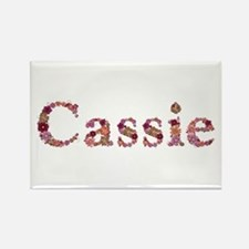 Cassie Pink Flowers Rectangle Magnet