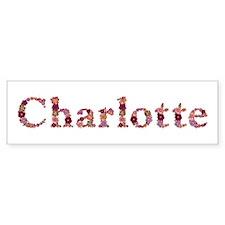 Charlotte Pink Flowers Bumper Bumper Sticker