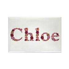 Chloe Pink Flowers Rectangle Magnet