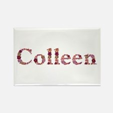 Colleen Pink Flowers Rectangle Magnet