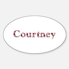 Courtney Pink Flowers Oval Decal