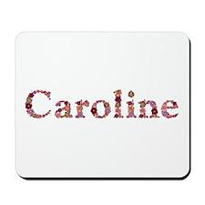 Caroline Pink Flowers Mousepad