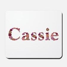 Cassie Pink Flowers Mousepad