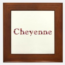 Cheyenne Pink Flowers Framed Tile