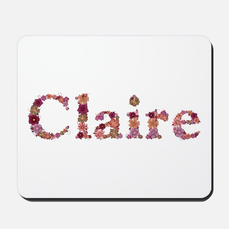 Claire Pink Flowers Mousepad