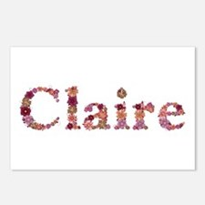 Claire Pink Flowers Postcards 8 Pack