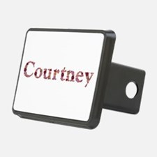 Courtney Pink Flowers Hitch Cover
