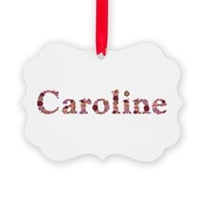 Caroline Pink Flowers Ornament