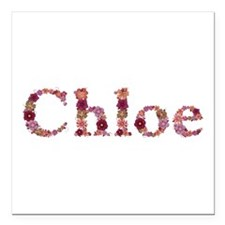 Chloe Pink Flowers Square Car Magnet
