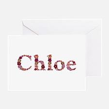 Chloe Pink Flowers Greeting Card
