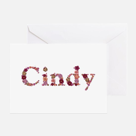 Cindy Pink Flowers Greeting Card