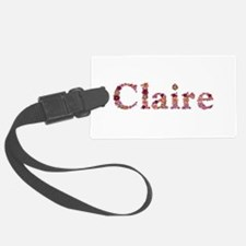 Claire Pink Flowers Luggage Tag