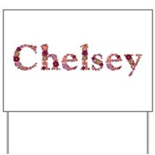 Chelsey Pink Flowers Yard Sign