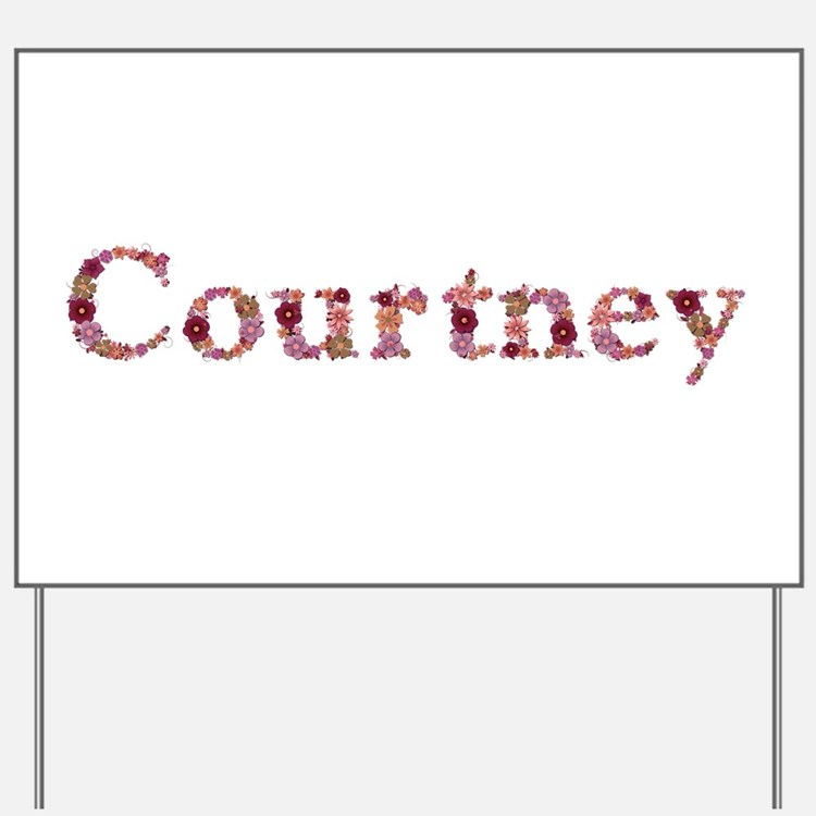 Courtney Pink Flowers Yard Sign