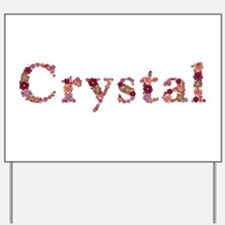 Crystal Pink Flowers Yard Sign