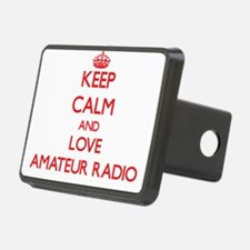Keep calm and love Amateur Radio Hitch Cover
