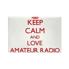Keep calm and love Amateur Radio Magnets