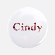 Cindy Pink Flowers Big Button