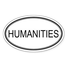 HUMANITIES Oval Decal