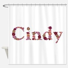 Cindy Pink Flowers Shower Curtain