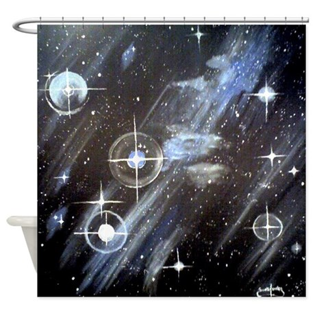 Outer Space Shower Curtain By Scottfostersart