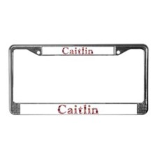 Caitlin Pink Flowers License Plate Frame