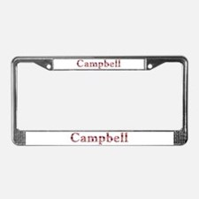 Campbell Pink Flowers License Plate Frame