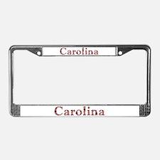 Carolina Pink Flowers License Plate Frame